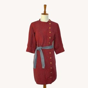 Anthropologie Scarlet Blaze Dress